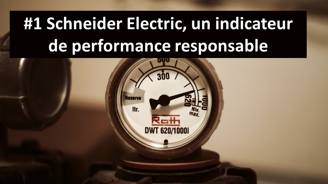 Schneider Electric un indicateur de performance responsable