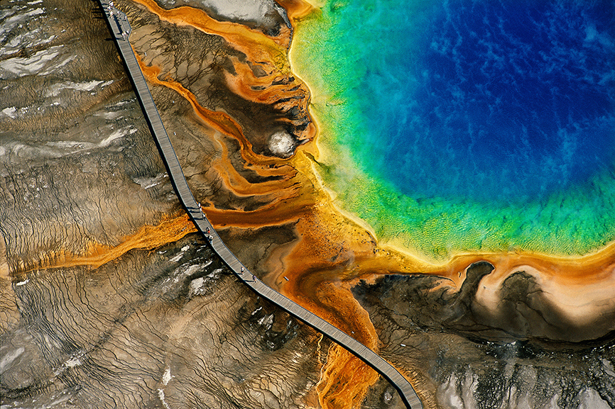 réduit Source chaude du Grand Prismatic parc national de Yellowstone Wyoming États Unis Yann Arthus Bertrand